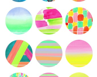 Shades of summer 12 Digital Images/designs for 25/20/18/16/15/14/12/10/8 mm cabochon round/square/oval