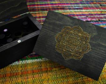 Essential Oil Storage Mandala Grid Box