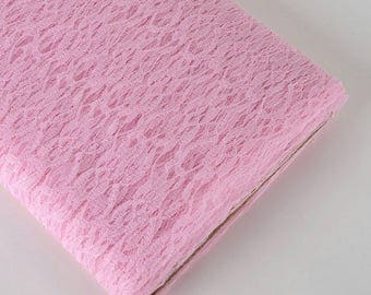 54 in. 10yrds. Bolt light pink lace fabric