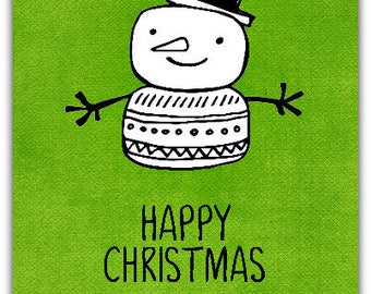 Card Christmas Happy Christmas 21 cm x 10 with envelopes