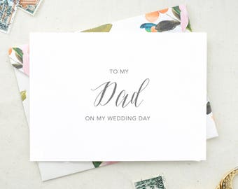 To My Mom On My Wedding Day Card. From the Bride and Groom. From the Bride Card. Mother Wedding Day Card To My Father Card Wedding Day DO11