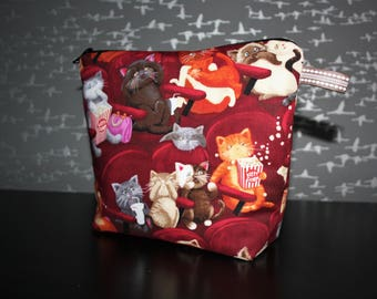 Toiletry bag cotton cats go to the movies! Original