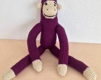 Knit monkey (customizable!)
