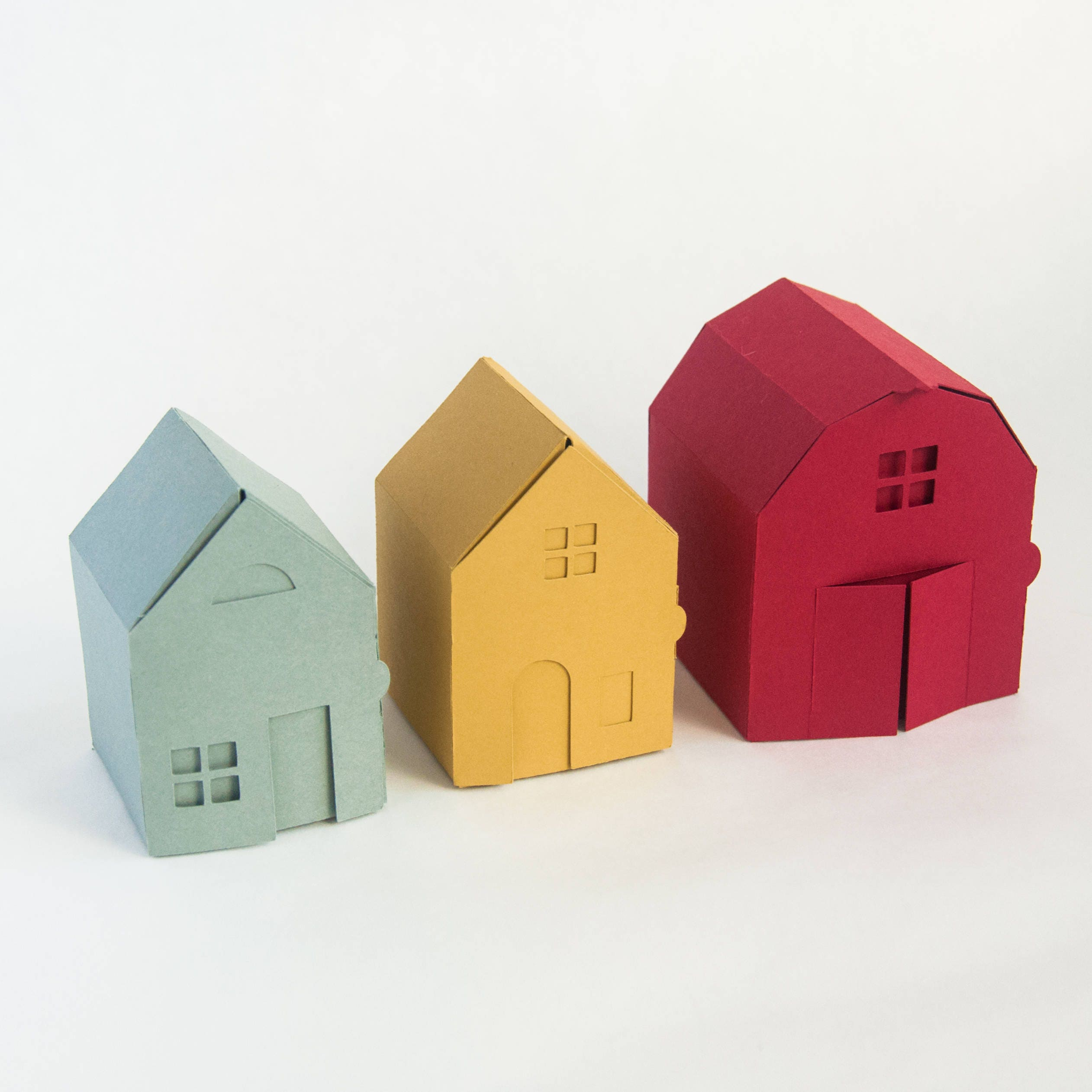 Village Papercraft Kit Make Your Own Tiny Paper Houses And