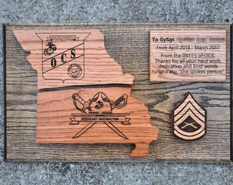 Military Going Away Plaques and Exotic Wood by ...