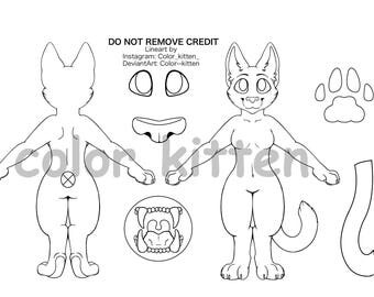 House Cat Lineart F