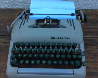 smith corona the silent super portable typewriter with case