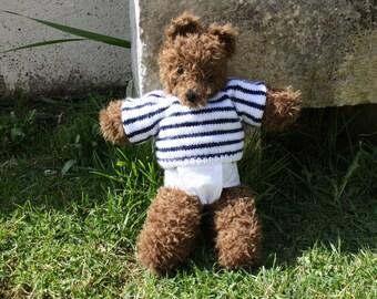 """Baby bear """"Marius"""" knitted hand"""