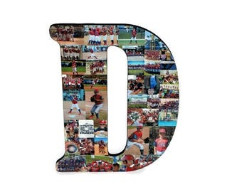 "18""  Custom Photo Collage, Photo Collage Letter, Photo Collage on Wood, Photo Collage Gift, Personal Collage, Custom Photo Letters"