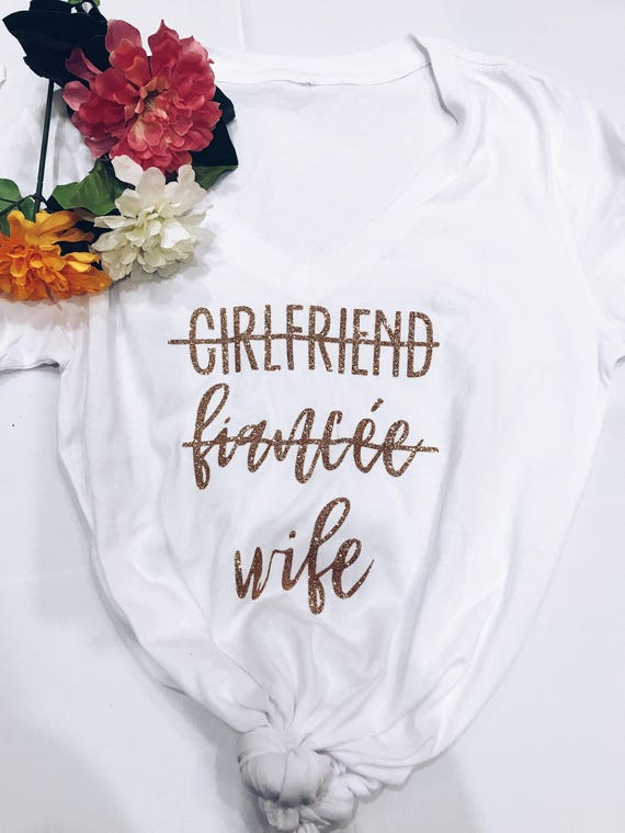 GF Fiancée Wife Upgrade Tee | Wife Tee | Wifey