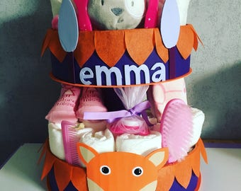 The vixen customizable diaper cake
