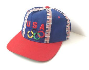 Vtg. USA Olympic Team Starter Snapback Baseball Hat