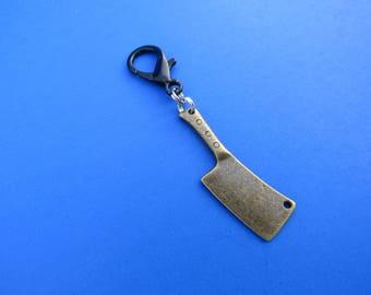 Brass Cleaver Zipper Pull