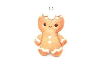 Gingerbread man charm; christmas stitch marker; crochet and knitting progress keeper