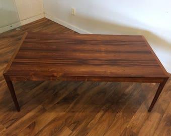 Danish Rosewood Large Coffee Table