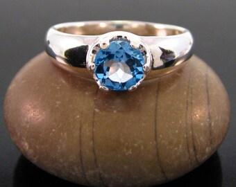Blue topaz ring, topaz ring silver, swiss blue topaz ring, swiss blue ring, blue topaz size 3 4 5 6 7 8 9 10 11 12 13 sterling silver rings