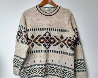 Vintage Marks and Spencer Street Michael Patterned Jumper