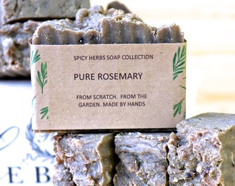 Rosemary Soap -  Rosemary Soap, Herbal Soap, Aged Skin Soap, Organic Soap, Natural Soap, Cold Process Soap, Vegan Soap, Handmade Soap