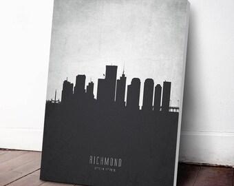 Richmond Skyline Canvas Print, Richmond Cityscape, Richmond Art, Richmond Art Print, Richmond Decor, Home Decor, Gift Idea, USVARI19C