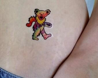 Grateful Dead tattoo tie dye tattoo bear tattoo hippy tattoos