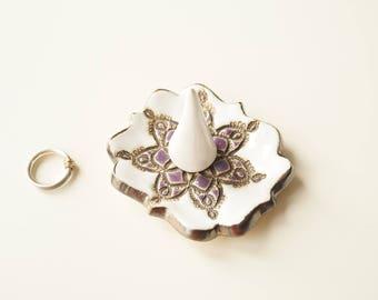 Jewelry Holder, Ring Holder, Ring Dish, Jewelry Dish, Jewelry Organizer, Lace Ring Holder