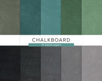 Chalkboard Paper / Digital Paper / Blackboard Pattern School Chalk Blue Black Green Gray Seamless Pattern Commercial Use / INSTANT DOWNLOAD