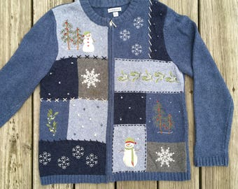 Vintage Ugly Snowmen Christmas Sweater