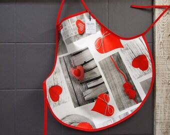 5 hearts oilcloth apron