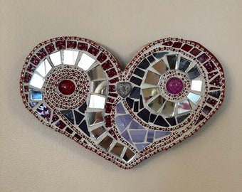 Mosaic Mirrored Heart