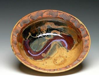Small Pottery Serving Bowl, Stoneware Serving  Bowl, Hand Thrown Bowl, Salad Bowl