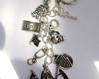 Sons of Anarchy themed keychain/keyfob/handbag charm/zipper charm