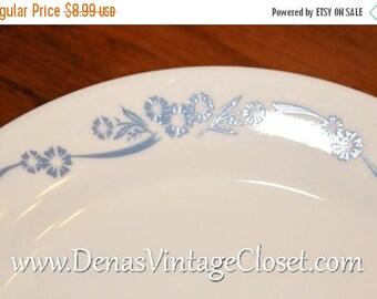 Summer Clearance Sale Vintage Corelle Cornflower Blue Salad Plate Blue Cornflowers 7 1