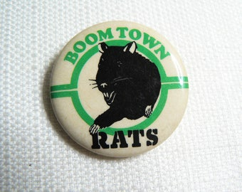 Vintage 80s - Boomtown Rats - Pin / Button / Badge