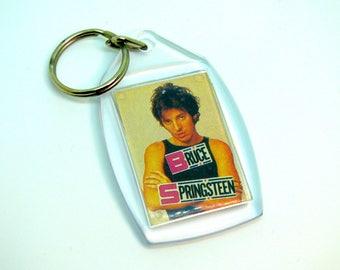 Vintage 80s Bruce Springsteen Keychain
