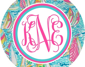 Flamingo Mouse Pad. Custom monogrammed gift. Perfect Preppy Monogrammed Desk accessory!