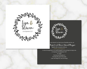 The Rustic Wreath Wedding Invitations