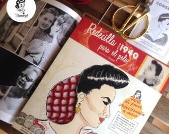 Hairnet Snood-inspired vintage (1942) - Fina - model Gilda