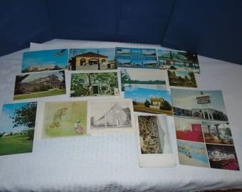 old postcards. vintage postcards. assorted postcards. postcards.