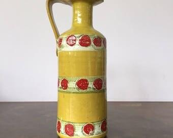 Vintage Italian Mid Century Yellow Vase