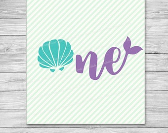 One - Mermaid Collection  Svg ,Studio,Png,JPG ,DXF cutting file Cricut silhouette cameo cut file - Instant Download