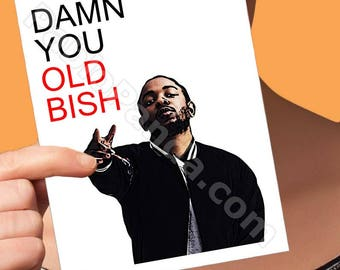 Funny Birthday Card | Kendrick Lamar | Gift For Boyfriend Card For Men Humble Boyfriend Gift Birthday Card  Him Boyfriend Card Birthday For
