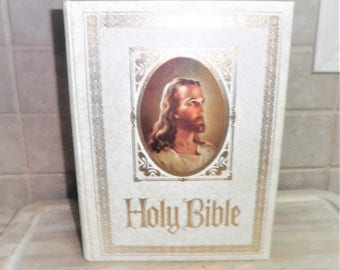 Vintage Red letter Edition King James version Holy Bible