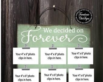 wedding gift, gift for wedding, we decided on forever, wedding photo holder, wedding picture holder, we decided on forever sign