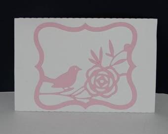 Bird flower gift card pouch