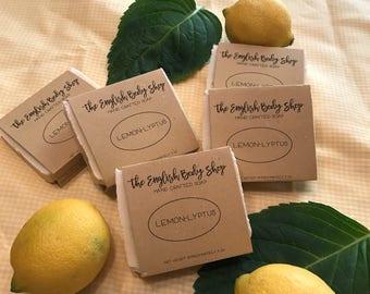 LemonLyptus handmade soap with all natural organic ingredients