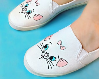 Marie, aristocats, handcrafted,  womens shoes, 40 dollar gift