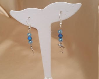 Hand made glass crystal ear-rings.