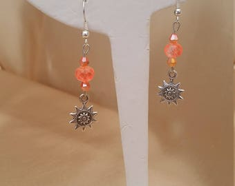 Hand made glass crystal ear-rings