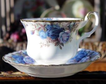Royal Albert Moonlight Rose Tea Cup and Saucer - English Bone China, Montrose Shape