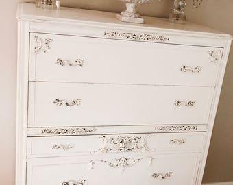 SOLD~Antique French Carved Dresser